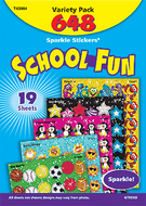 Sparkle stickers school fun