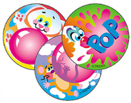 Stinky stickers blowing 60/pk  bubbles acid-free bubble gum
