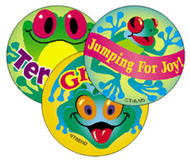 Stinky stickers frolicking 60/pk  frogs acid-free pineapple