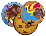 Stinky stickers lots of 60/pk  chocolate acid-free chocolate