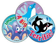 Stinky stickers sea animals 60/pk  acid-free blueberry