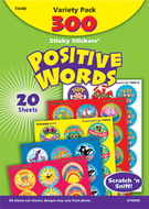 Stinky stickers positive words  acid-free variety 300/pk