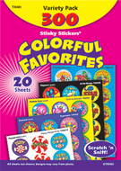 Stinky stickers colorful favorites  acid-free variety 300/pk