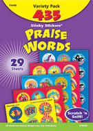 Stinky stickers praise words 435/pk  jumbo acid-free variety pk