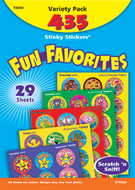 Stinky stickers fun favorites 435pk  jumbo acid-free variety pk