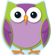 Colorful owl mini cut outs
