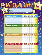 Chore charts stars 25 charts  8-1/2 x 11
