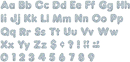 Silver sparkle 4in casual combo  ready letters