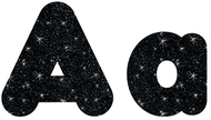 Black sparkle 4in combo pack  uppercase lowercase