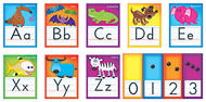 Awesome animals alphabet cards std  manuscript bb set
