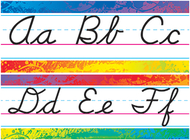 Splashy colors alphabet line modern  cursive bb set
