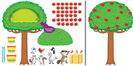 Apple tree & animals bb set