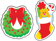 Christmas cheer evergreen mixed  shape stinky stickers