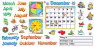 Bb set monthly calendar cling pcs