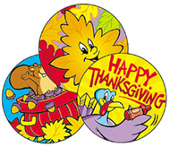 Stinky stickers thanksgiving 60/pk  time acid-free pumpkin