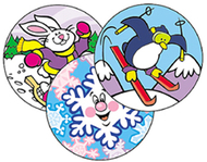 Stinky stickers wintertime fun 60pk  acid-free wintergreen
