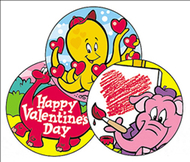 Stinky stickers valentines 60/pk  day chocolate cherry acid-free