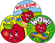 Stinky stickers amazing apples 60pk  acid-free apple