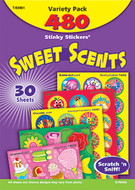 Stinky stickers sweet shapes 456/pk  acid-free super saver pk