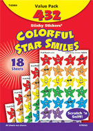 Stinky stickers smiley stars 432/pk  variety acid-free pk