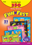 Stinky stickers mixed shapes 350/pk  acid-free variety pk
