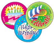 Stinky stickers happy birthday