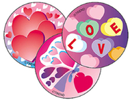 Stinky stickers valentines day 60pk  cherry acid-free