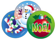 Stinky stickers christmas 60/pk  acid-free peppermint