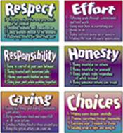 Poster pk character traits 6/pk  13 x 19