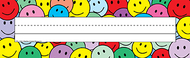 Flat name plates smiley faces 36pk  3 x 11