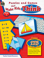 Puzzles and games that make kids  think gr-1