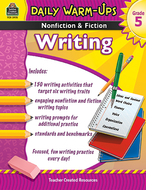 Daily warm ups gr 5 nonfiction &  fiction writing book