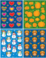 Seasonal shape stickers set