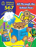 All through the school year sticker  book