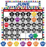 Colorful paw prints calendar bb set