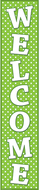Lime polka dots welcome banner