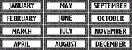 Black/white crazy circles monthly  headliners