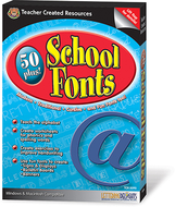 50 plus school fonts