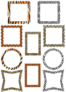 Picture frame animal prints accents