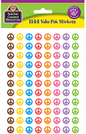 Peace signs mini stickers valu pk  1144 header