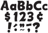 Black & silver funtastic font 4in  letters combo pack