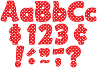 Red polka dots funtastic font 4in  letters combo pack