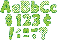 Lime polka dots funtastic font 4in  letters combo pack