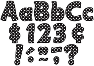 Black polka dots funtastic font 4in  letters combo pack