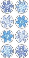 Winter mini stickers 378 stks