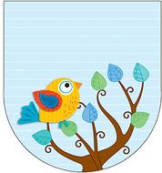 Boho birds note pad