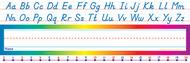 Alphabet-number line modern name  plates