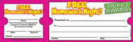 Free homework night ticket awards