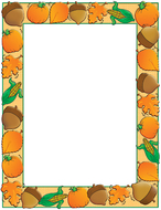 Design paper autumn harvest 50 sht  8-1/2 x 11