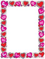 Design paper valentines 50 sht  8-1/2 x 11